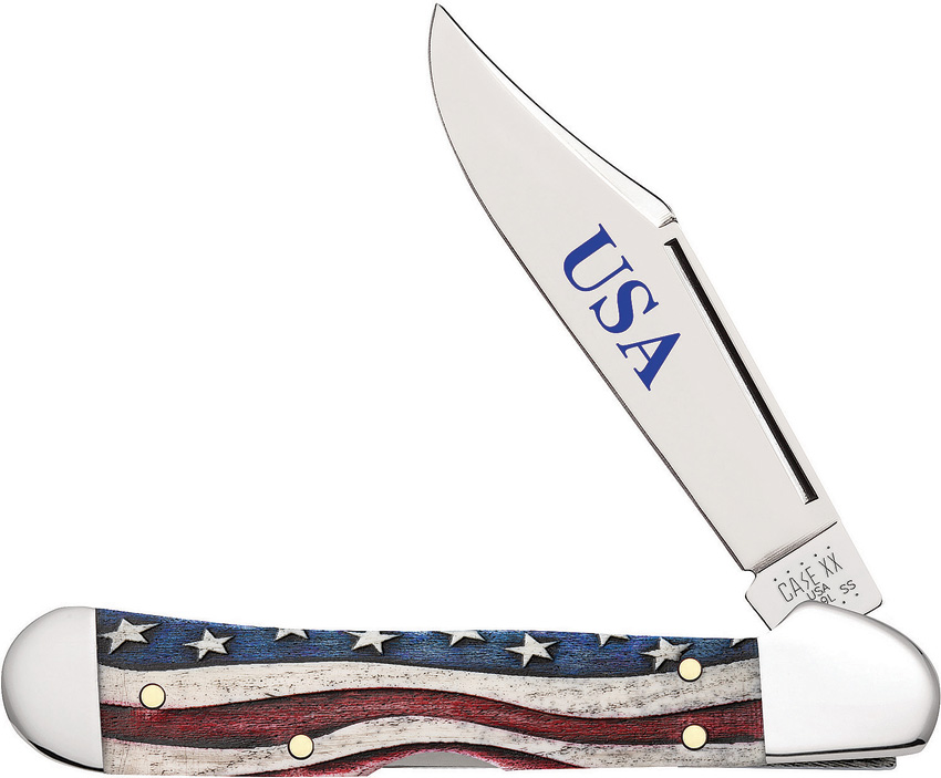 Case Cutlery Mini Copperlock Star Spangled