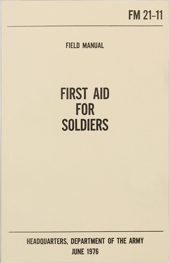 Books First Aid for Soldiers