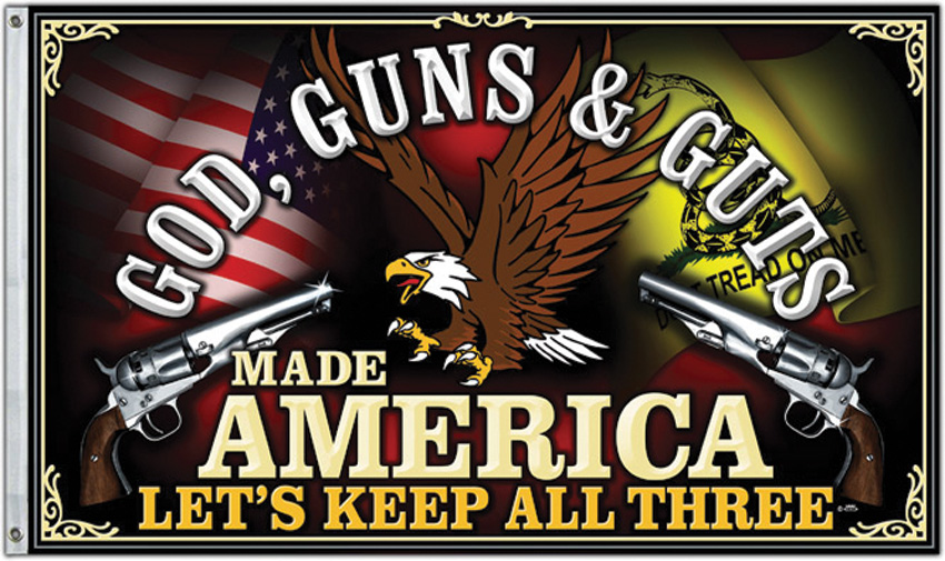 Flags God Guns and Guts Flag