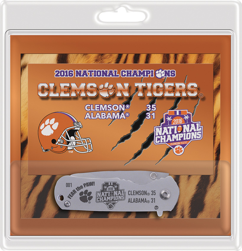 Frost Cutlery Clemson Tigers Framelock