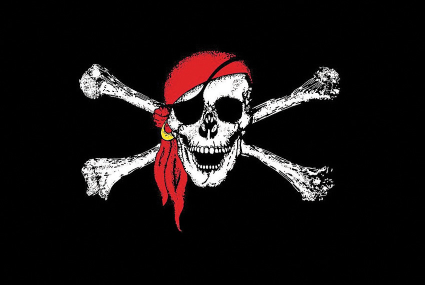 Flags Red Scarf Jolly Roger Flag
