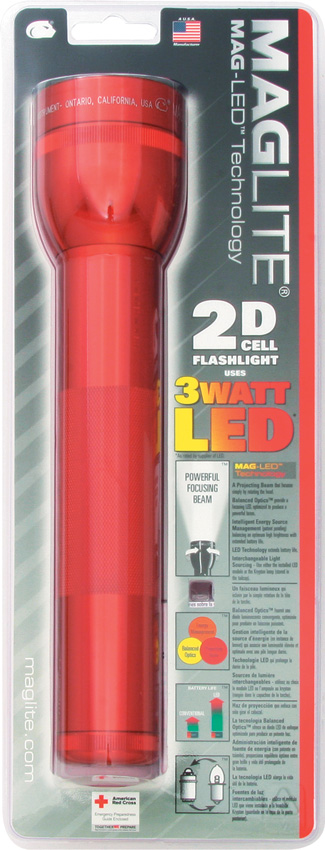 Mag-Lite 2D Cell Flashlight Red