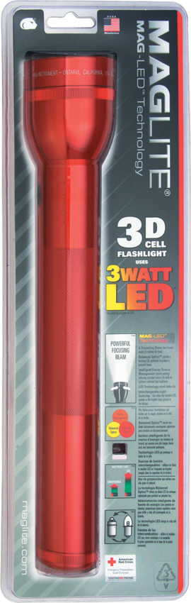 Mag-Lite 3D Cell LED Flashlight Red