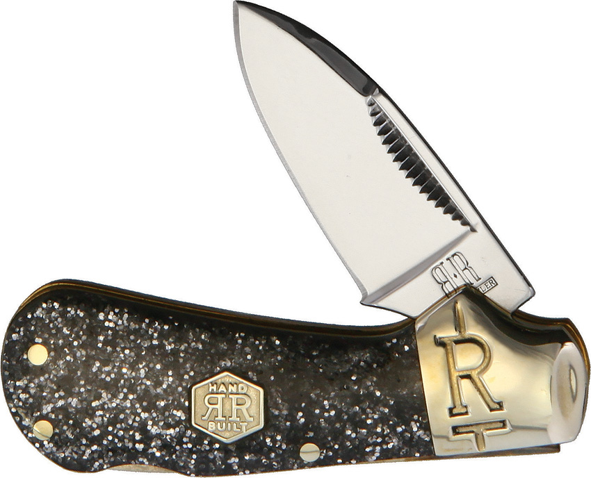 Rough Ryder Cub Lockback Silver Sparkle