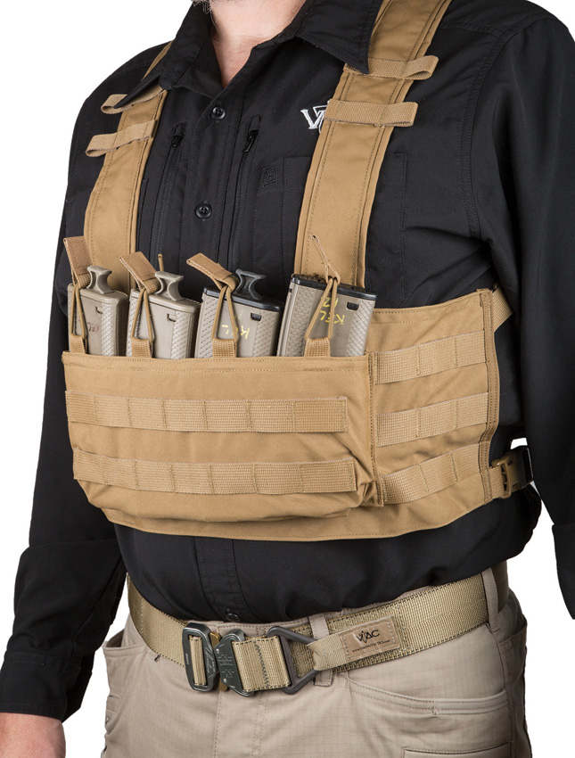 Viking Tactics VTAC MOLLE Chest Rig Coyote