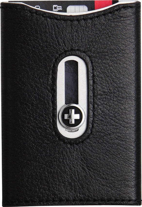 Wagner Swiss Wallet Black w/Silver