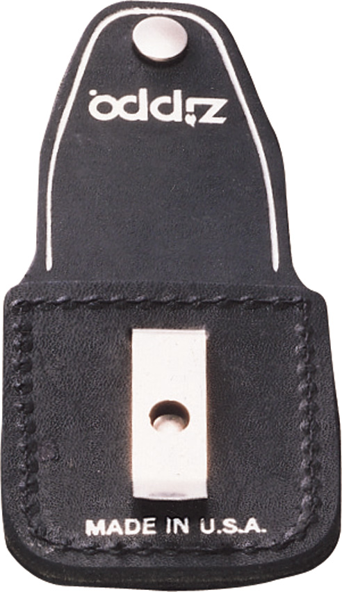 Zippo Lighter Pouch Black Leather