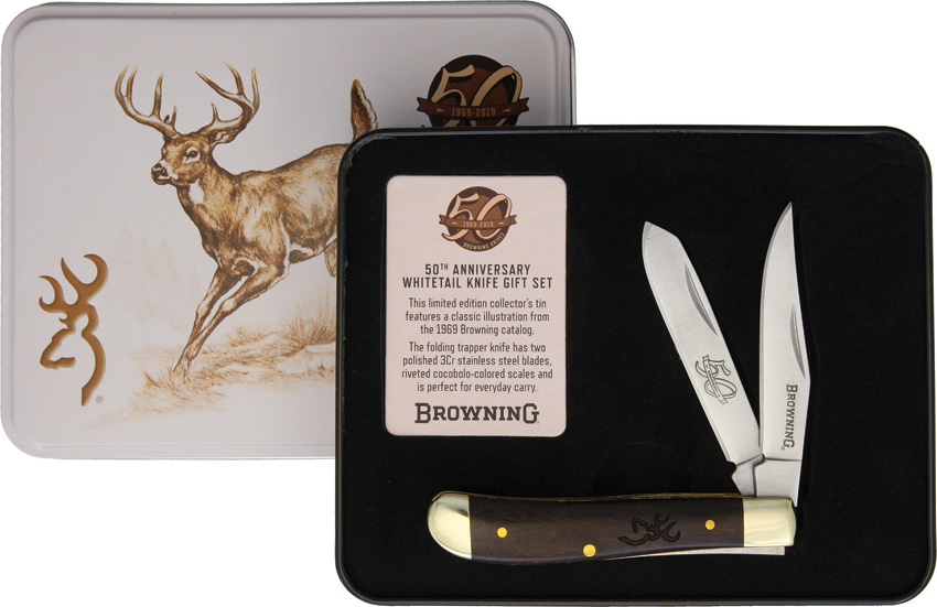 Browning Mini Trapper 50th Annv Tin
