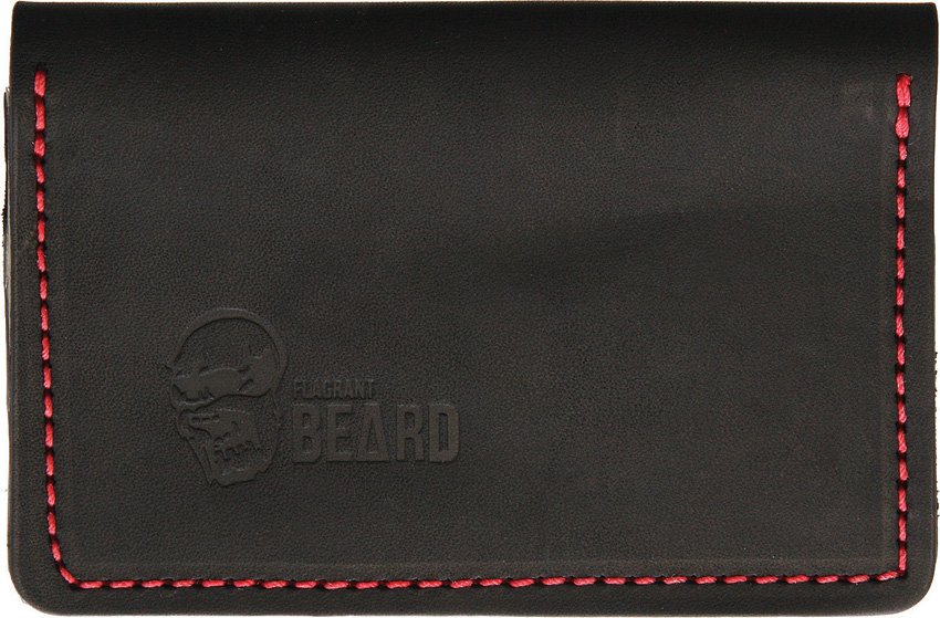Flagrant Beard Wallet Black Red Stitched