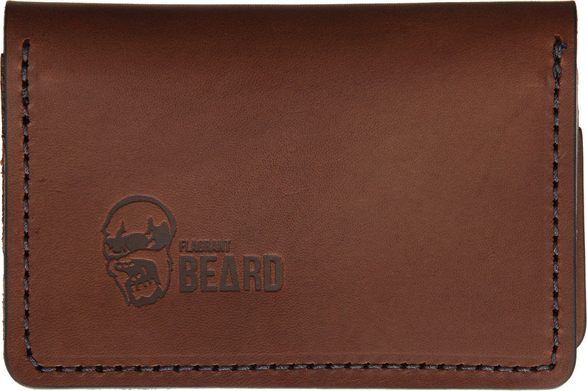 Flagrant Beard Wallet Brown Black Stitched