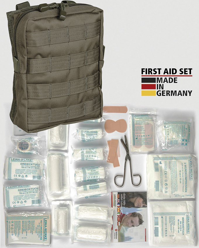 Miscellaneous First Aid Kit OD MOLLE Pouch