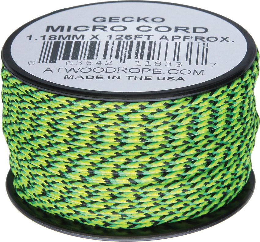 Atwood Rope MFG Micro Cord 125ft Gecko