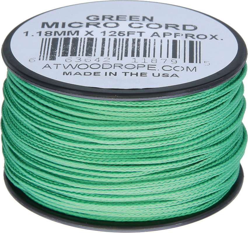 Atwood Rope MFG Micro Cord 125ft Green