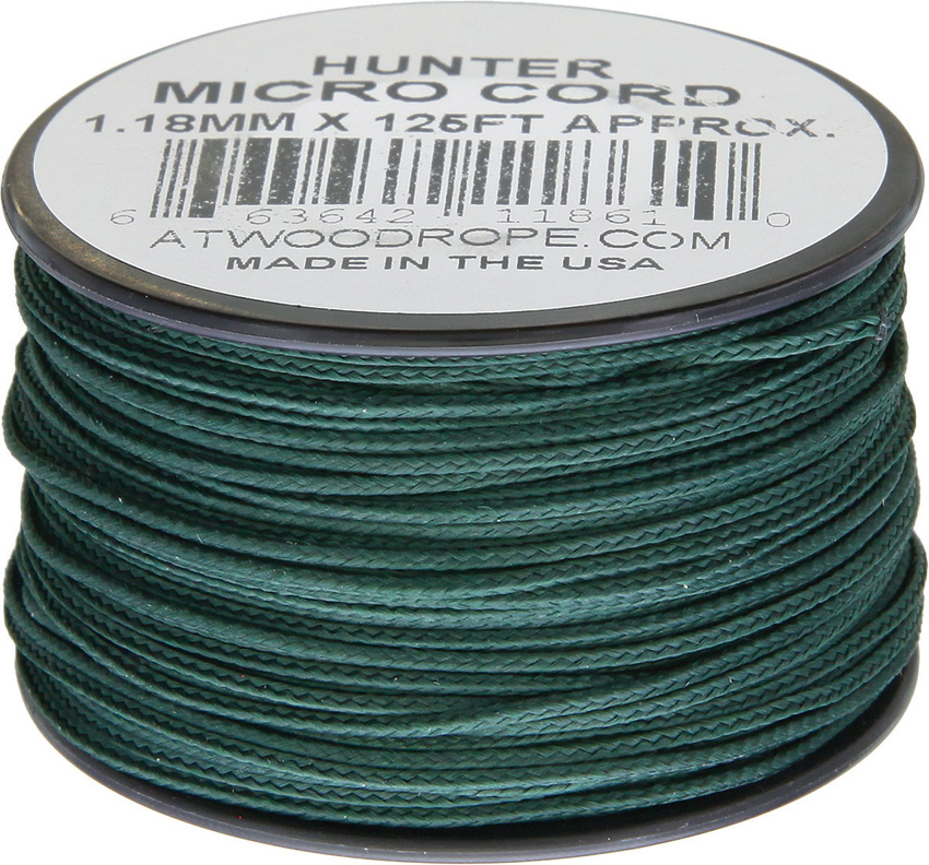 Atwood Rope MFG Micro Cord 125ft Hunter