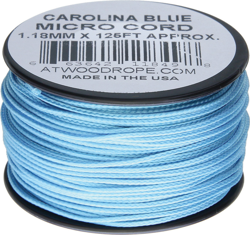 Atwood Rope MFG Micro Cord 125ft Carolina Blue