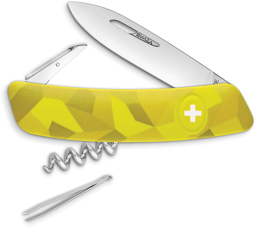 Swiza C01 Button Lock Yellow Camo