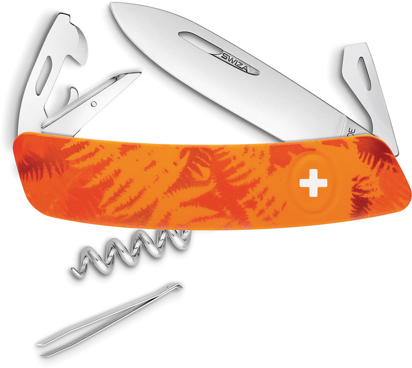 Swiza C03 Button Lock Orange Camo